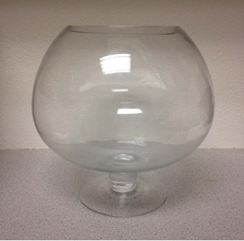 Recalled Grreat Choice or Top Fin glass fish bowl