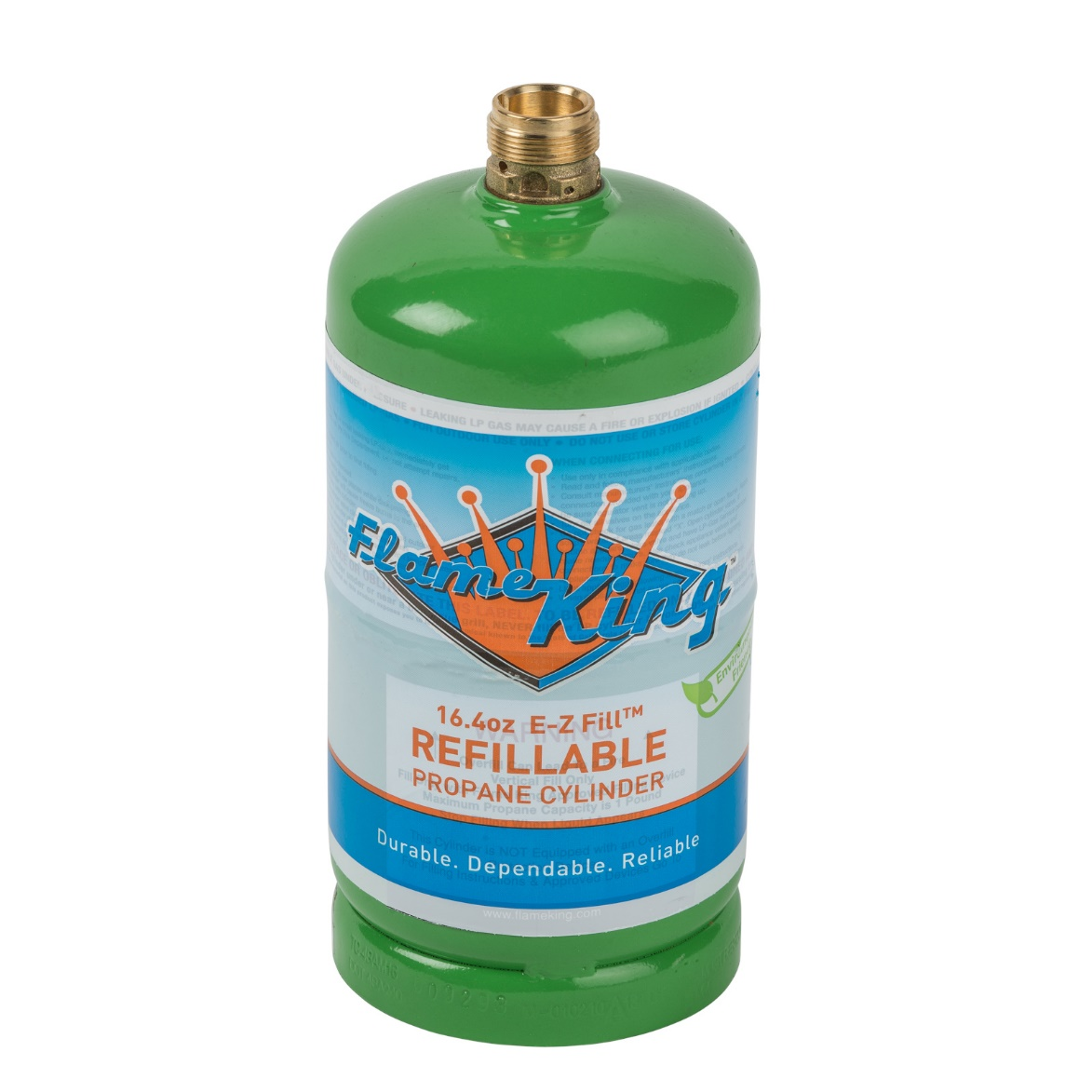 Flame King 16.4 oz. refillable propane cylinder