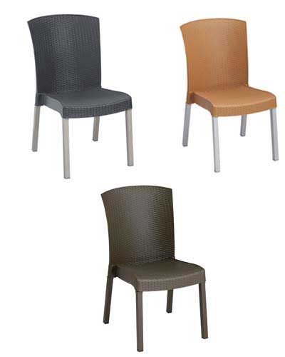Grosfillex Havana commercial side chairs.