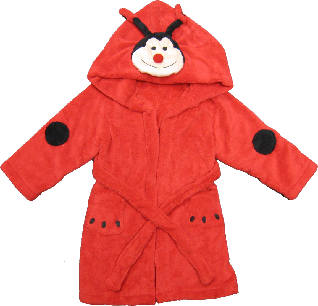 Kreative Kids lady bug children's robe