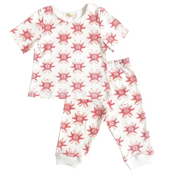 Crab children's pajamas