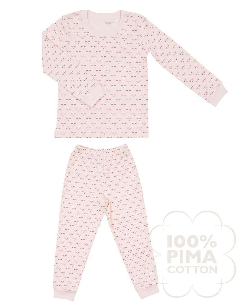 Children's two-piece pajama set in mini sleeping cutie print