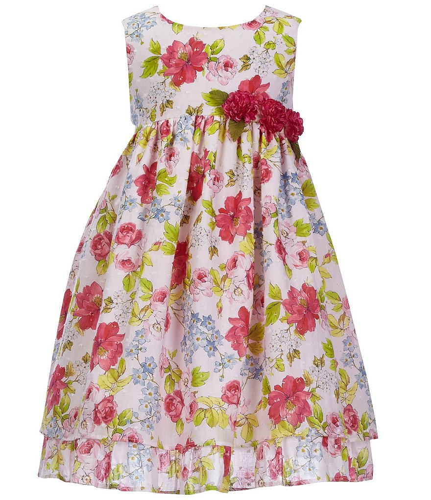 Laura Ashley London Girl's Floral Clip Dot dress