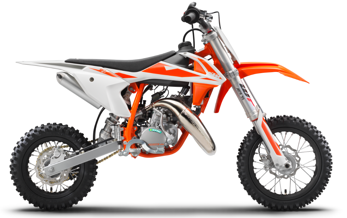 Recalled 2019 KTM 50 SX motorcycle.