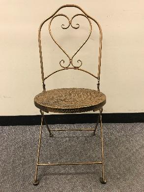 Bronze Hammered bistro chairs – front view