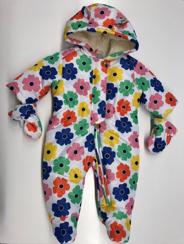 Recalled White Sophy Floral Infant Girl's Snowsuit (Style #2111187)