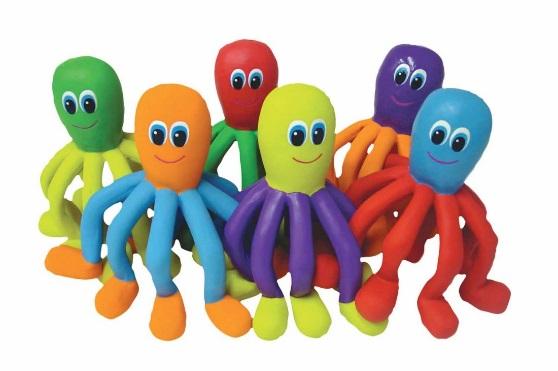 Recalled rubber critter octopus set of six