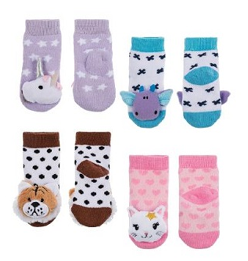 Recalled Midwest-CBK Unicorn, Dragon, Tiger, and Kitty socks.