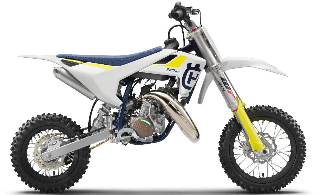 Recalled 2019 Husqvarna TC 50 motorcycle.