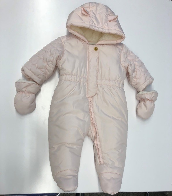 Recalled Rosebud Heart Infant Girl's Snowsuit (Style #2111188)
