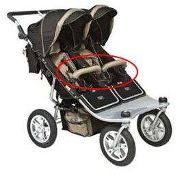 Recalled Tri Mode Twin Jogging Stroller