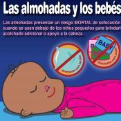 Las almohadas y los bebés…no van juntos