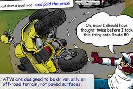 ATV Safety Comic: Off-Road Only