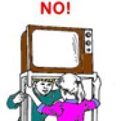 Warning! TV/Audiovisual Cart Tipover Hazard!