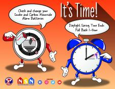 It's Time. Check and Change Your Smoke and Carbon Monoxide Alarm Batteries