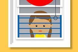 Niños pueden estrangularse en cordones de ventanas