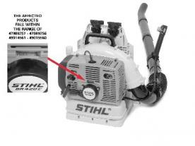 CPSC, STIHL Inc. Announce Recall of Backpack Blowers