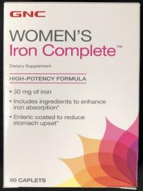 Women's Iron Complete Supplements Recalled by GNC Due to Failure to Meet Child Resistant Closure Requirement; Risk of Poisoning