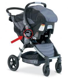 BOB-Motion stroller (in travel system mode)