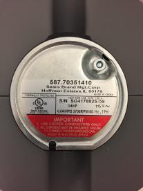 Kenmore sample serial number plate