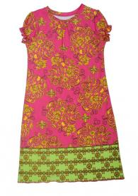 Klever Kids Short-Sleeved Nightgown (Paisley with Green Trim)