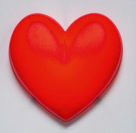 IKEA red heart HJÄRTA wall-mounted children's lamp