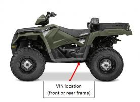Vehicle identification number (VIN) location