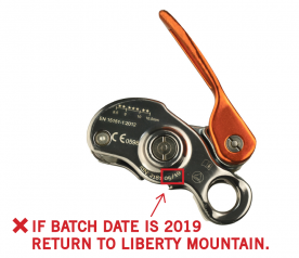 Birdie Belay Devices Recalled Due to Risk of Injury; Made by Beal Sas