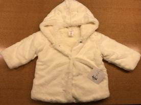 Starting Out Baby Girls 3-24 Months Faux-Fur Hooded Bear Coat