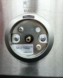Serial number on label