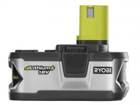 Side view of Ryobi lithium-ion battery