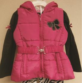 Young Hearts brand girl's clothing set