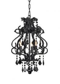 9062 Valentina chandelier, small, black