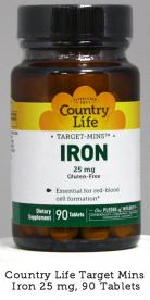 Country Life Target Mins Iron Tablets