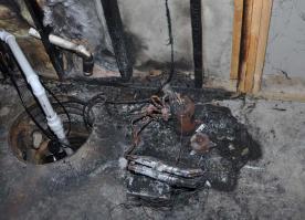 Daños a la propiedad por incendio que involucó deshumidificador retirado