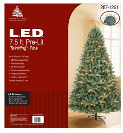 Seasonal Specialties Recalls Pre-lit Christmas Trees