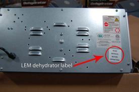 LEM dehydrator label