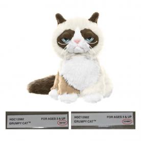 "Grumpy Cat 5"" Sitting.  Red circle indicates location of batch number on the sewn-in-label."