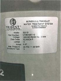 "Label on sanitation system with ""Series 2"""