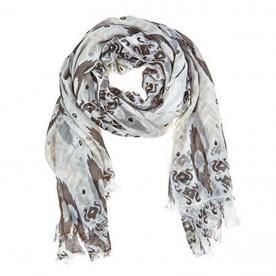 Julie Vos Sierra women's Sierra scarf – cream/gray
