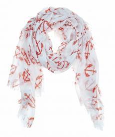 Julie Vos Sierra women's Anchor scarf -- orange