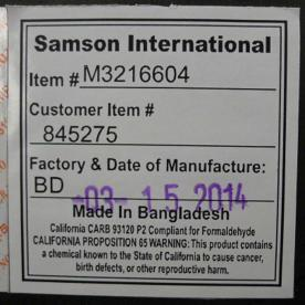 Spencer Bar Stool Label