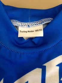 Neck Tag Label With Tracking Number for K.J. Sportswear California Pajamas