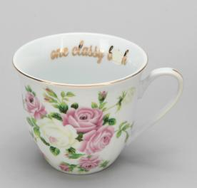 "Urban Outfitters ""one classy b****"" teacup"