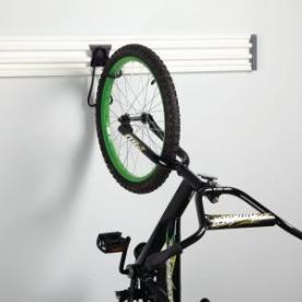 Bike Hanging from Hook on Husky® Securelock™ Trackwall
