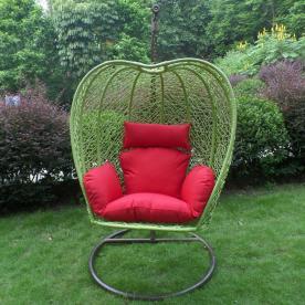 Green apple-shaped swing chair