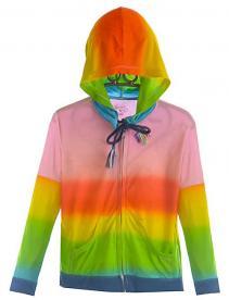 Girl's Neon Tie Dye Jacket