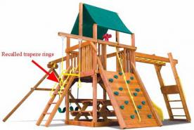 Rainbow Play Systems Recalls Plastic Yellow Trapeze Rings
