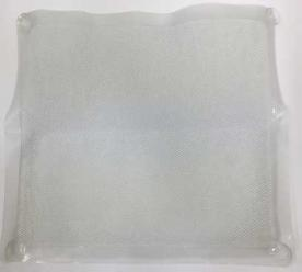 Clear AquaRug Four Suction Cup Shower Rug for Shower Stalls