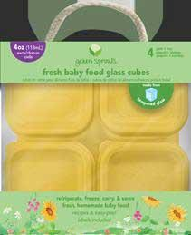 2- and 4-ounce glass food cube sets